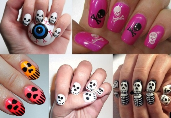 Skull Inspired Manicures | Halloween Manicures | SalonAddict.co.uk