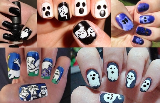 Ghost Inspired Manicures | Halloween Nail Art | SalonAddict.co.uk
