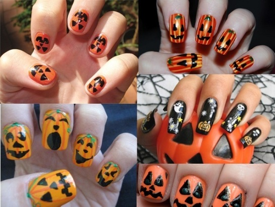 Pumpkin Inspired Manicures | Halloween Nail Art | SalonAddict.co.uk