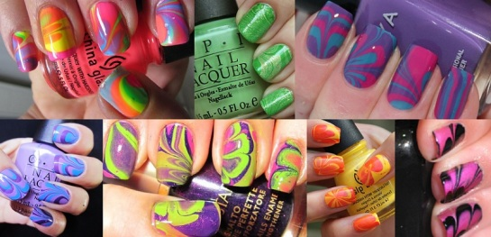 Water Marble Manicures | SalonAddict.co.uk