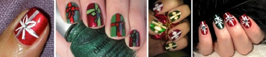 Christmas Present Nails | Chrismas Manicures | SalonAddict.co.uk