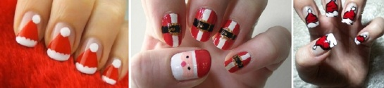 Santa Nails | Chrismas Manicures | SalonAddict.co.uk