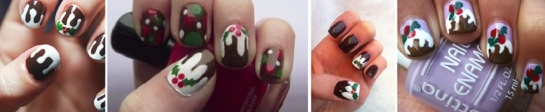 Christmas Pudding | Chrismas Manicures | SalonAddict.co.uk
