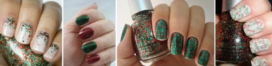 Christmas Glitter Nails | Chrismas Manicures | SalonAddict.co.uk