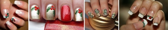 Christmas Holly Nails | Chrismas Manicures | SalonAddict.co.uk