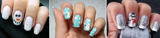 Snowman Nails| Chrismas Manicures | SalonAddict.co.uk