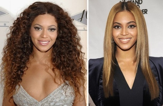 Beyonce | Curly VS Straight Hair | SalonAddict.co.uk