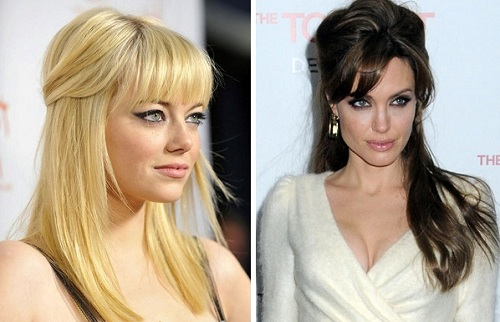 Emma Stonne & Andelina Jolie | Half up - Half down Hairstyles | Day to Night Hairstyles | SalonAddict.co.uk