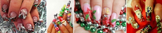 3D Christmas | Chrismas Manicures | SalonAddict.co.uk