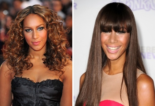 Leona Lewis | Curly VS Straight Hair | SalonAddict.co.uk
