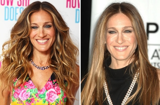 Sarah Jessica Parker | Curly VS Straight Hair | SalonAddict.co.uk