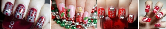 Reindeer Nails | Chrismas Manicures | SalonAddict.co.uk