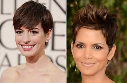 Anne Hathaway | Halle Berry | Celebrity Hairstyles - The Golden Globes 2013 | SalonAddict.co.uk