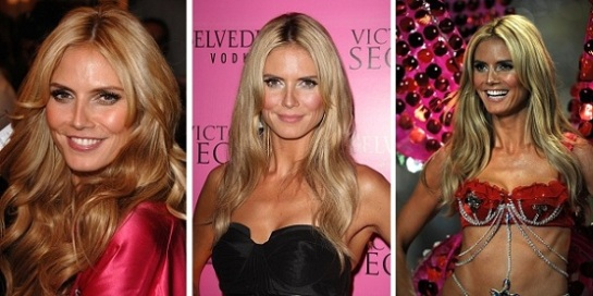 Celebrity Hairstyles – Victoria Secret Angels | Heidi Klum | SalonAddict.co.uk