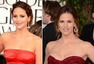 Jennifer Lawernce | Jennifer Garner | Celebrity Hairstyles - The Golden Globes 2013 | SalonAddict.co.uk