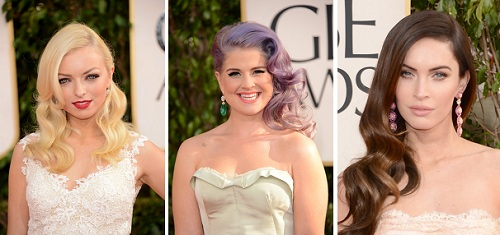 Francesca Eastwood | Kelly Osbourne | Megan Fox | Celebrity Hairstyles - The Golden Globes 2013 | SalonAddict.co.uk