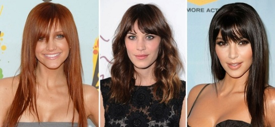 Ashley Simpson | Alexa Chung | Kim Kardashain | Celebrity Hairstyles - Bangs | SalonAddict.co.uk