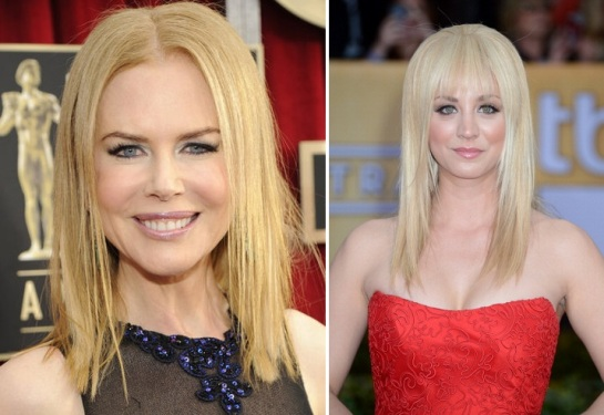 Nicole Kidman | Kaley Cuoco | Hairstyles 2013 - The SAG AWards 2013 | SalonAddict.co.uk