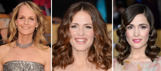 Helen Hunt | Jennifer Garner | Rose Bryne | Hairstyles 2013 - The SAG Awards | SalonAddict.co.uk