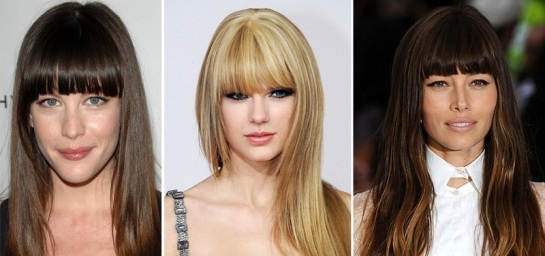 Liv Tyler | Taylor Swift | Jessica Biel | Celebrity Hairstyles - Bangs | SalonAddict.co.uk