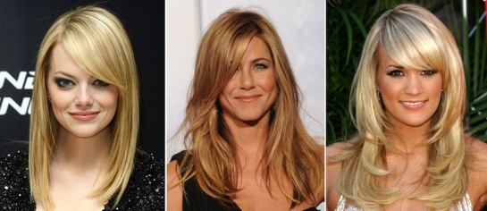 Emma Stone | Jennifer Anniston | Celebrity Hairstyles - Bangs | SalonAddict.co.uk