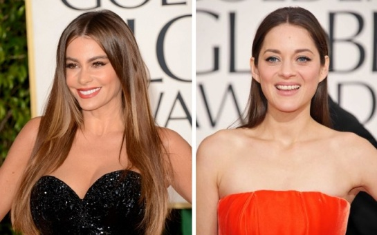Sophia Vergara | Marion Cotillard | Celebrity Hairstyles - The Golden Globes 2013 | SalonAddict.co.uk