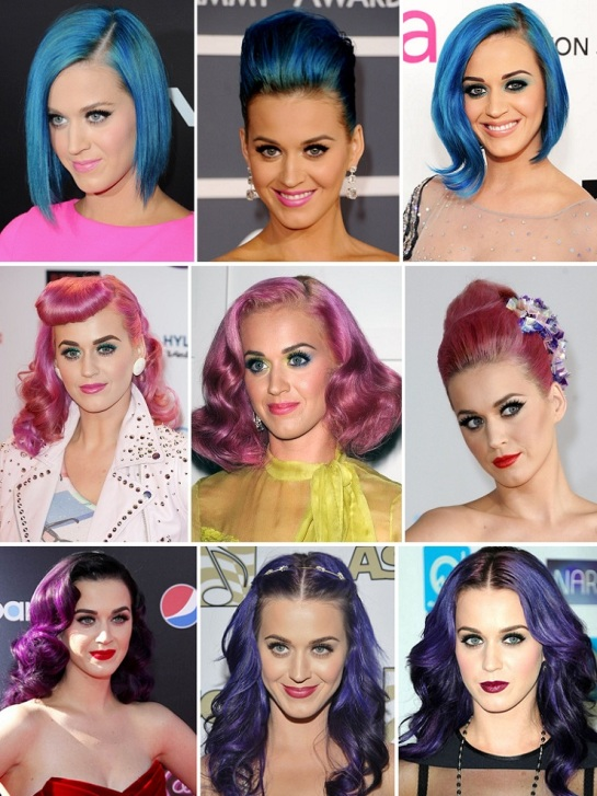 Katy Perry | Bold & Bright Hairstyles | SalonAddict.co.uk