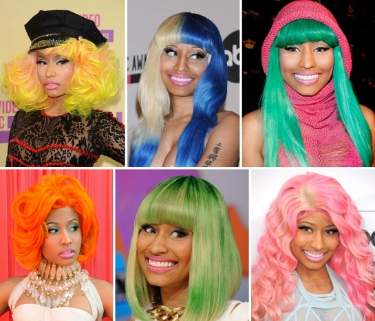 Nicki Minaj | Bold & Bright Hairstyles | SalonAddict.co.uk
