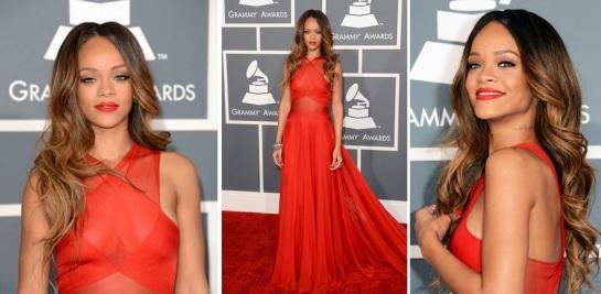 Celebrity Hairstyles 2013 - The Grammy's   Rihanna   SalonAddict.co.uk